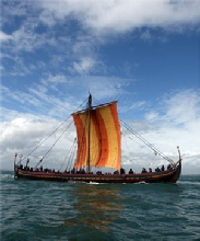 How did the Vikings travel by sea?